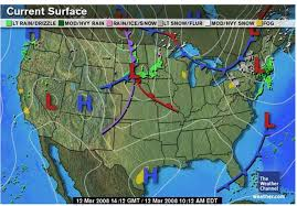 weather fronts map weather