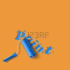 woman with paint roller brush royalty free cliparts vectors