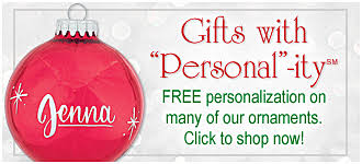 Custom Made Christmas Decorations by Personalized Christmas Ornaments Lights U0026 Decorations Bronner U0027s