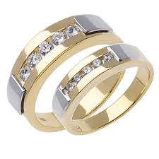 Wedding Ring Sets For Him And Her White Gold by 85ct Tcw 18k Two Tone Gold His U0026 Her Ring Set 9006415 Shop At