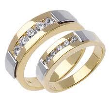 wedding ring depot 85ct tcw 14k two tone gold his ring set 9006385 shop at