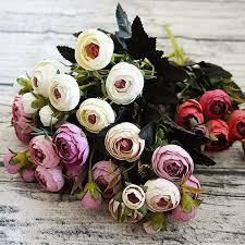 artificial flowers silk tea flower 1 bundle wedding home