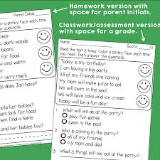 100 reading comprehension worksheet 1st grade first grade