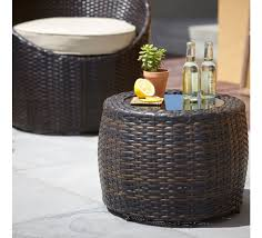 rattan coffee table outdoor outdoor round rattan coffee table glass topped happy hippy home
