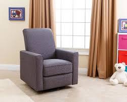 abbyson living emma nursery swivel glider recliner chair grey