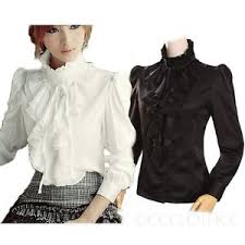high neck ruffle blouse winter white high neck blouse womens vintage top ruffle