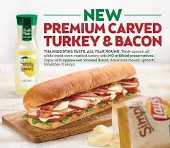 subway sandwich shop introduces thick cut carved turkey to