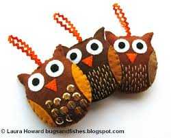 bugs and fishes by lupin how to felt owl ornaments