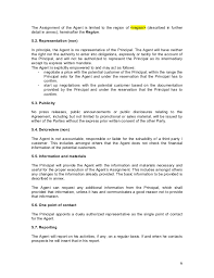 agent contract templates sample commission agreement template