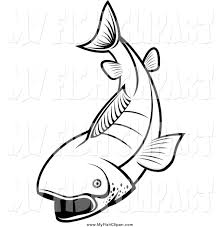clip art of a black and white fish by vector tradition sm 1935