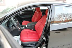nissan altima leather seats nissan altima s sr red katzkin leather seat covers for 2013 2014