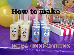 How To Make Birthday Decorations At Home How To Make Dora The Explorer Party Decorations With Free