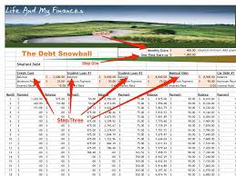 How To Use Excel Spreadsheet Spreadsheet For Using Snowball Method To Pay Off Debt Business