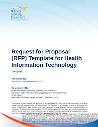 2017 request for proposal template fillable printable pdf