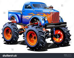 monster trucks races cartoon cars vector cartoon monster truck eps10 separated stock vector