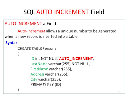 sql create table primary key autoincrement chapter 9 sql อ ย นยง ก นทะเนตร คณะเทคโนโลย สารสนเทศและการส อสาร