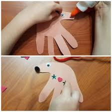 12 days of crafts day 2 handprint reindeer ornaments