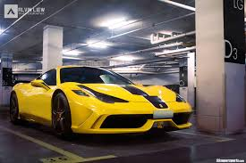 Ferrari 458 Yellow - epic pics yellow ferrari 458 speciale front side in garage