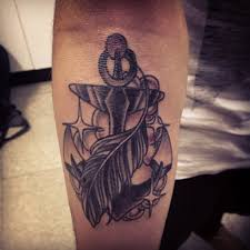 image result for anchor with feather tattoo meaning tattoo