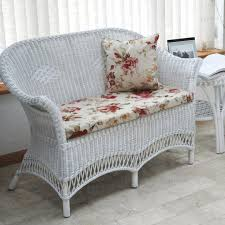 White Wicker Armchair Outdoor Wicker Furniture Garden View Beige Sofa Beige Comfy Sofa