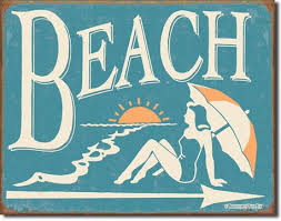 beachy signs this way tin sign oceanstyles