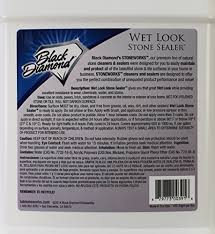 Patio Stone Sealer Review Wet Look Natural Stone Sealer From Black Diamond Stoneworks