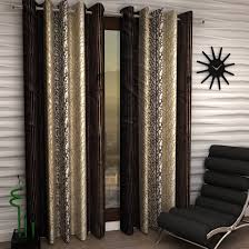 Amazon Living Room Curtains Buy Home Sizzler Abstract Eyelet Polyester Long Door Curtain Set