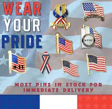 911 Flag Photo 9 11 Patriotic Flag Pins 911 Memorial Lapel Pins