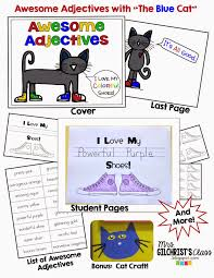 adjectives for thanksgiving pete the cat awesome adjectives pack i love my colorful shoes