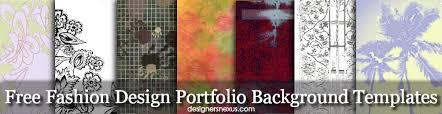 fashion design portfolio background templates