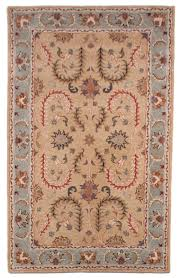 Blue Area Rugs 5x8 by Royal Beige Blue Orange Traditional Hand Tufted Wool Area Rug 5x8