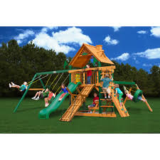 outdoor playhouse swing set and gorilla swing sets also walmart