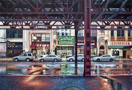 landscape paintings of chicago and york by