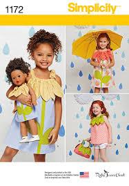 matching patterns simplicity 1172 child u0027s sportswear pieces with matching doll dress