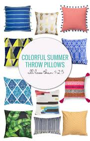 remodelaholic colorful summer throw pillow under 25
