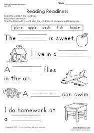 snapshot image of reading readiness worksheet 1 english
