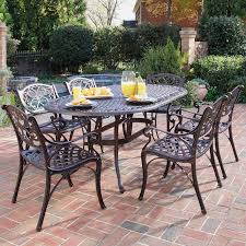 Commercial Dining Room Tables Home Styles Biscayne Black Cast Aluminum Patio Dining Set Seats