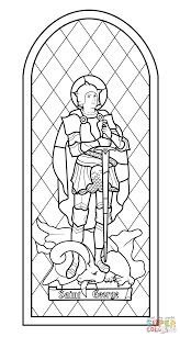 saint george stained glass coloring page free printable coloring