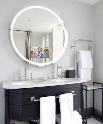 eternity lighted mirror tv technology bathroom mirrors