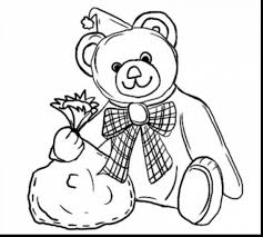 good spring coloring pages with teddy bear coloring page