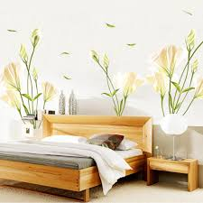 online get cheap lily wall stickers aliexpress com alibaba group home decor lily flower wall sticker diy art plant stickers free shipping new arrival china