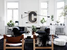 Black And White Armchairs Scandinavian Living Room Design Ideas U0026 Inspiration