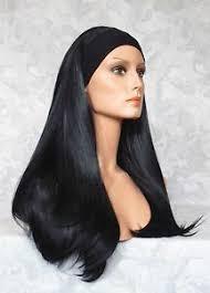 headband wigs 22 long straight jet black synthetic headband wig wigs 82 ebay