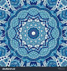seamless ornamental pattern circular ornaments doily stock vector