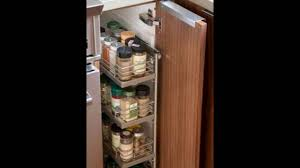 Kitchen Cabinet Spice Rack Slide by Pull Out Spice Rack Youtube