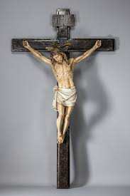 wooden crucifix large antique church wooden crucifix 42 antiques heaven