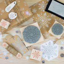 christmas dotty snowflake rubber stamp stamps xmas and craft