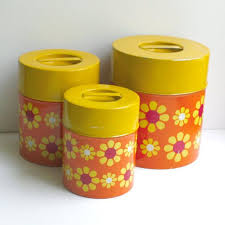 yellow kitchen canister set 565 best vintage kitchen canister sets images on