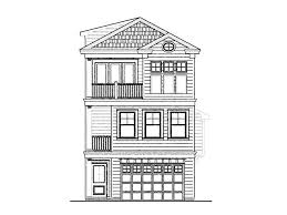 three story home plans narrow lot house plans narrow home plan 058h 0097 at