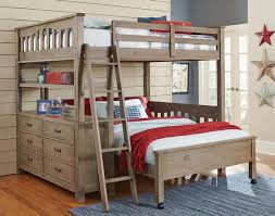 This ShapestyleCrosspointe Twin Size L Shape Bunk - Kids l shaped bunk beds